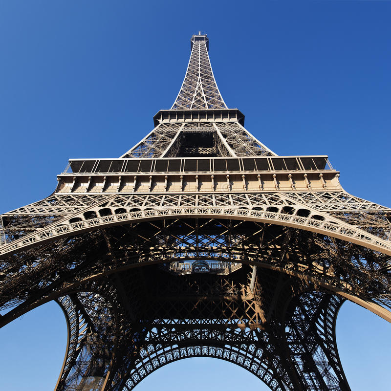 Eiffel Tower square stock images