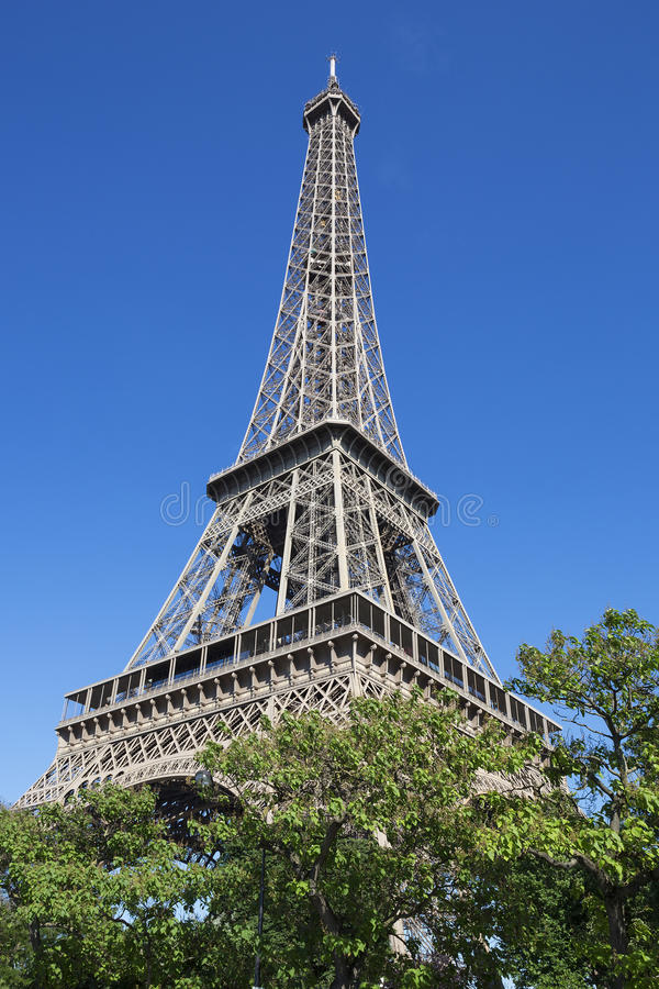 Eiffel Tower in summer royalty free stock photography