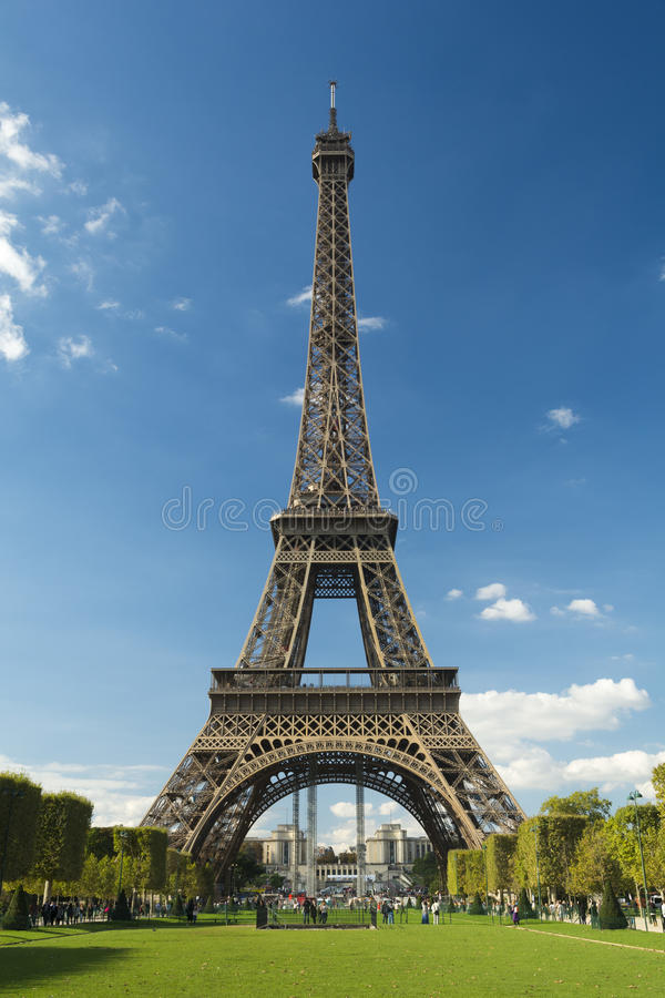 Eiffel Tower in a sunny day. royalty free stock photo