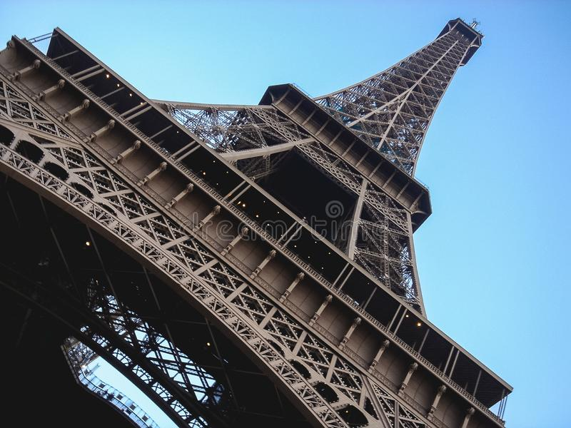 Eiffel Tower at the sunset. Eiffel Tower on a day a summer stock photography