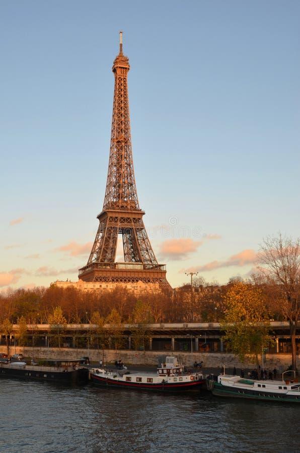 Eiffel tower, sunset, paris royalty free stock photo