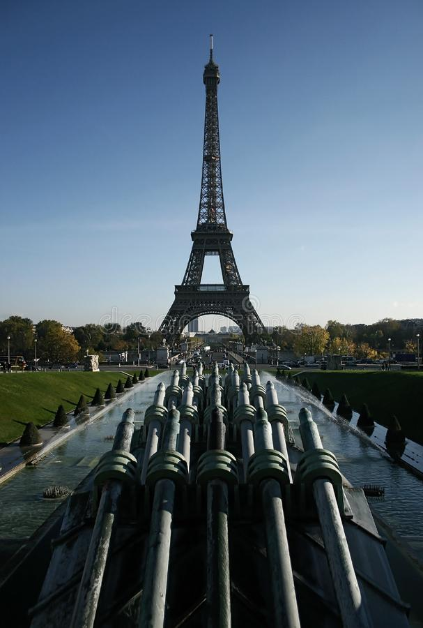 Eiffel Tower from Trocadero royalty free stock images