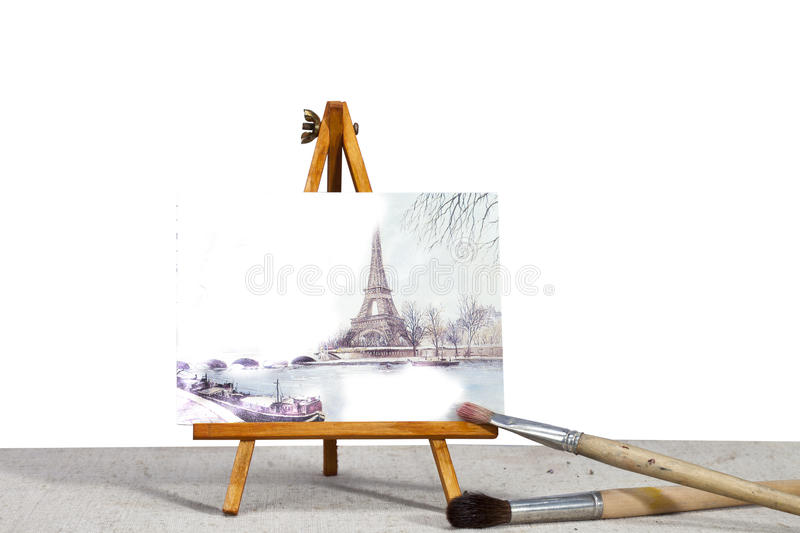 Download Eiffel Tower stock photo. Image of stand, erase, france - 83700436
