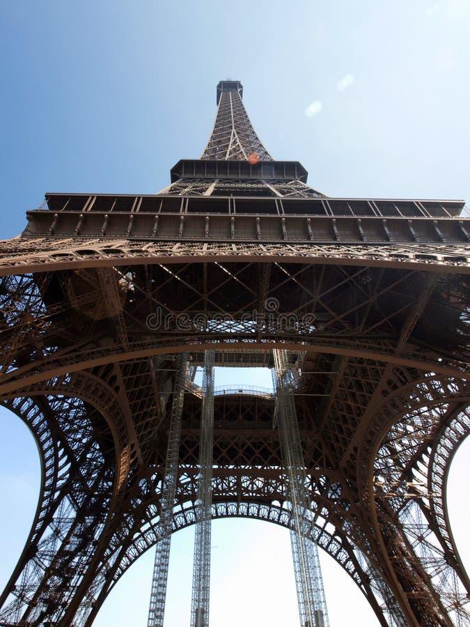 Eiffel Tower up close. Paris, France stock photos