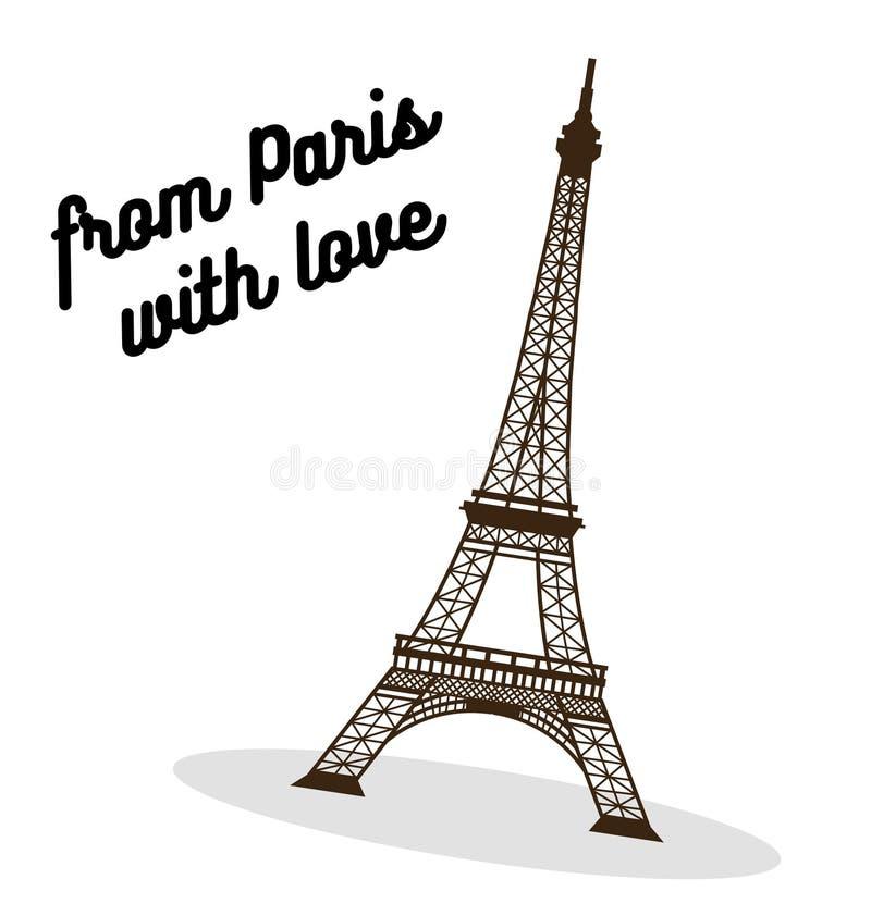 Eiffel tower vector illustration. vector illustration