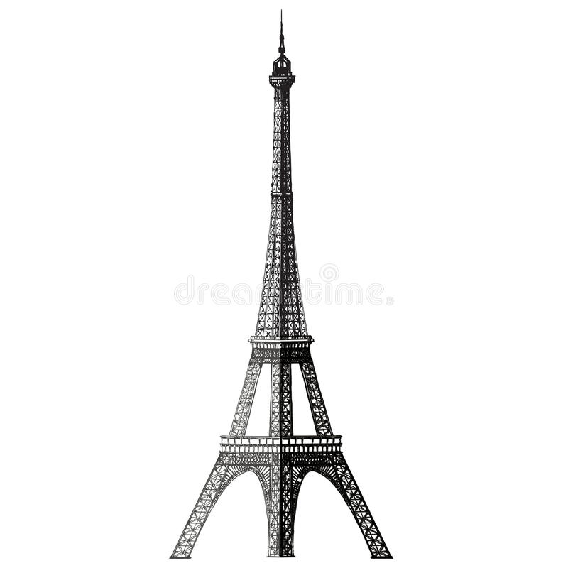 eiffel tower drawing stock vector illustration of auto