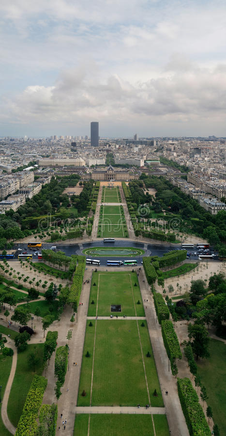 Download Eiffel tower view stock photo. Image of lawn, eiffel - 19957716