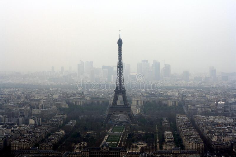 Eiffel Tower View In Foggy Weather Free Public Domain Cc0 Image