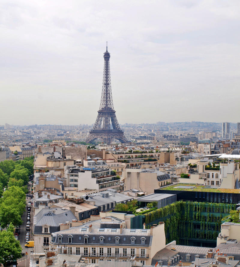 Free Eiffel Tower View From Arc Triumph Royalty Free Stock Photo - 27304795