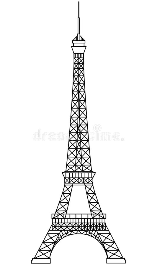 eiffel turnerar stock illustrationer