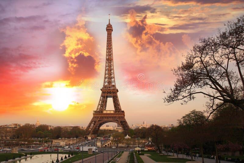 eiffel wieczór France Paris wierza obraz stock