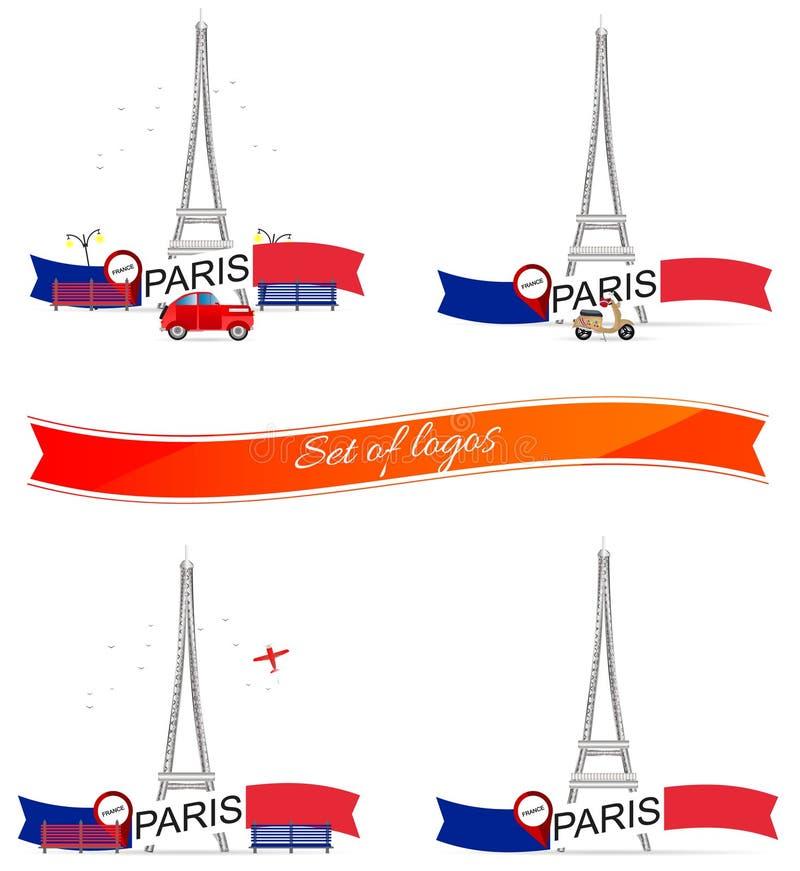 eiffel wierza France Paris również zwrócić corel ilustracji wektora ilustracji