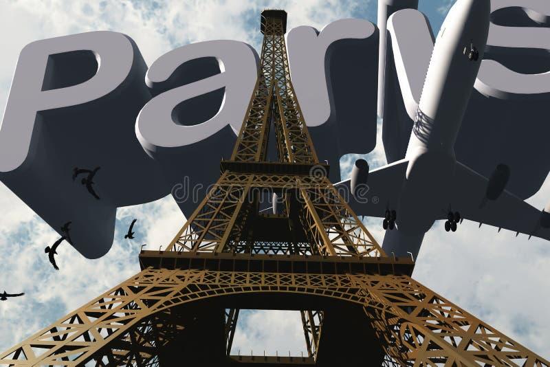 eiffel wierza Paris ilustracja wektor