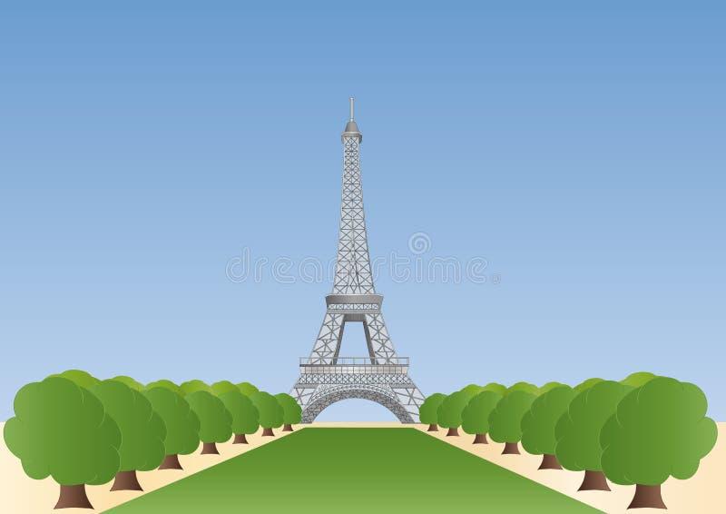 eiffel wierza Paris ilustracji