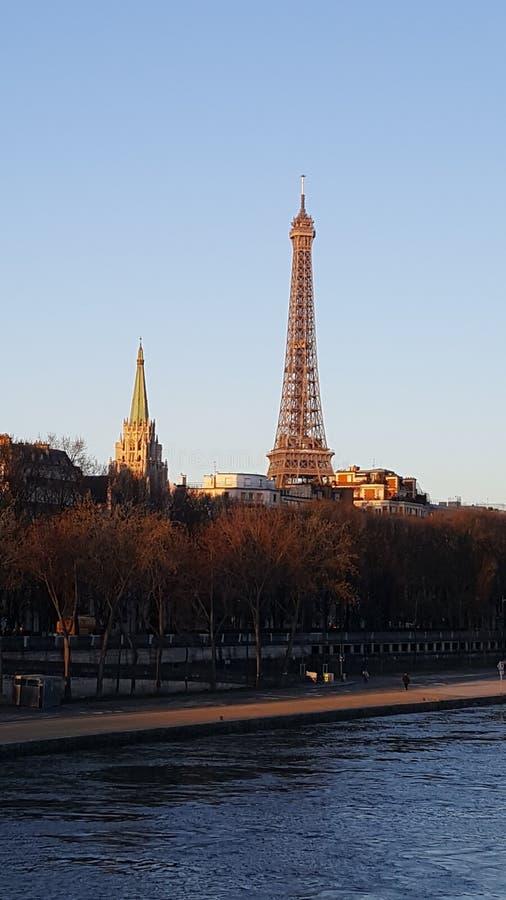 eiffel wycieczka turysyczna Paris zdjęcia royalty free