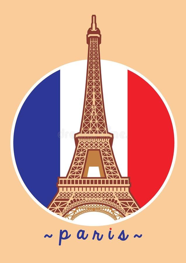 Eiffeltorn vektor illustrationer