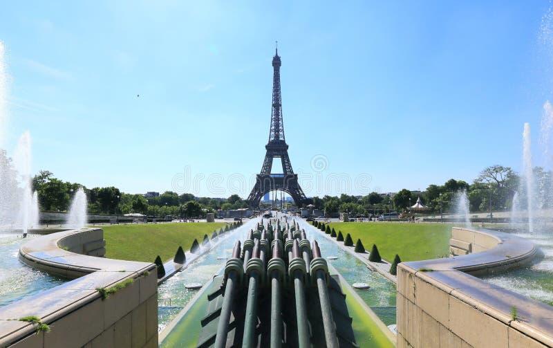 Eiffeltorn Palais de Chaillot fotografering för bildbyråer