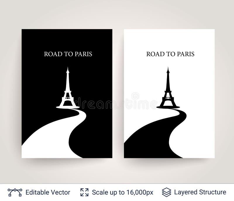 Eiffeltornkontur royaltyfri illustrationer