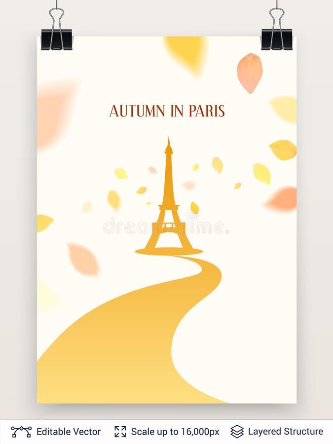 Eiffeltornkontur stock illustrationer