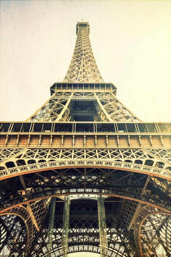 Eiffeltorntappningbild fotografering för bildbyråer