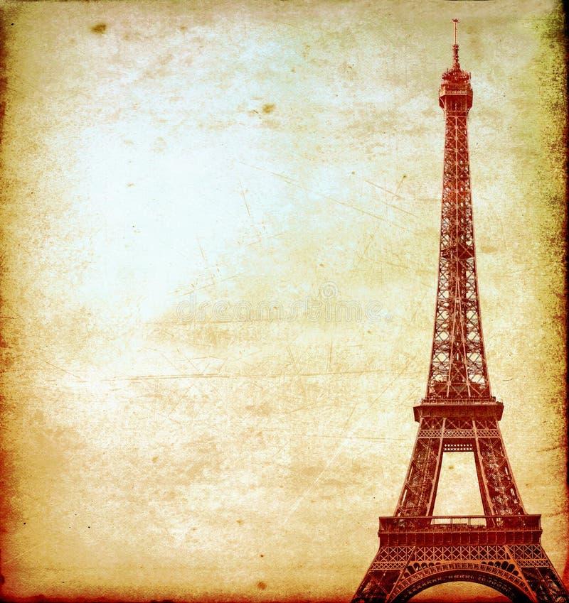 Eiffeltorntappningvykort arkivbild