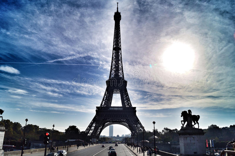 Eiffeltower i Frankrike arkivbilder