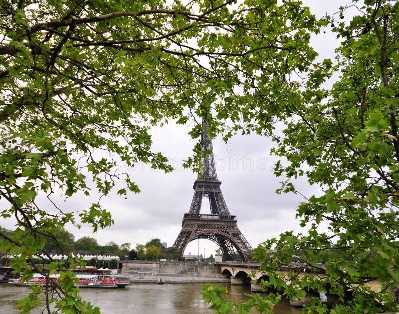 Eiffelturm am Frühling lizenzfreie stockfotos
