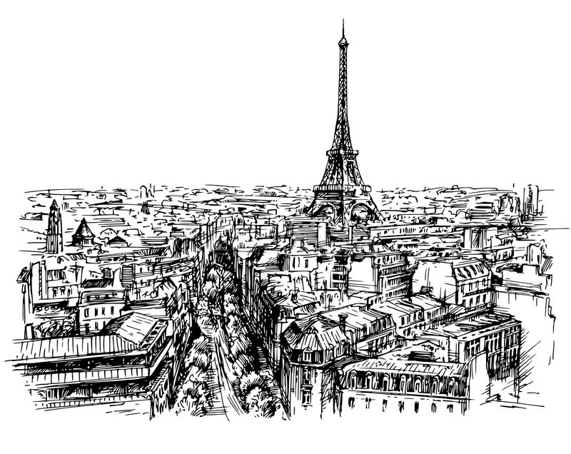 Eiffelturm, Paris, Frankreich lizenzfreie abbildung