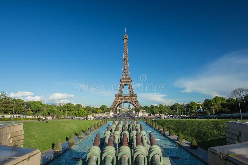 Eiffelturm in Paris, Frankreich stockfotografie