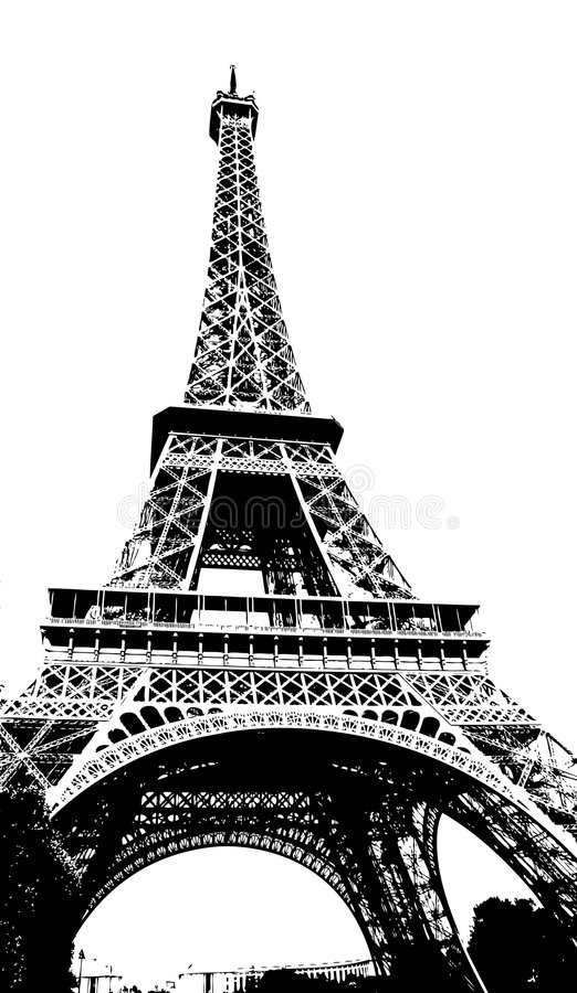 Eiffelturm Paris Frankreich lizenzfreie abbildung