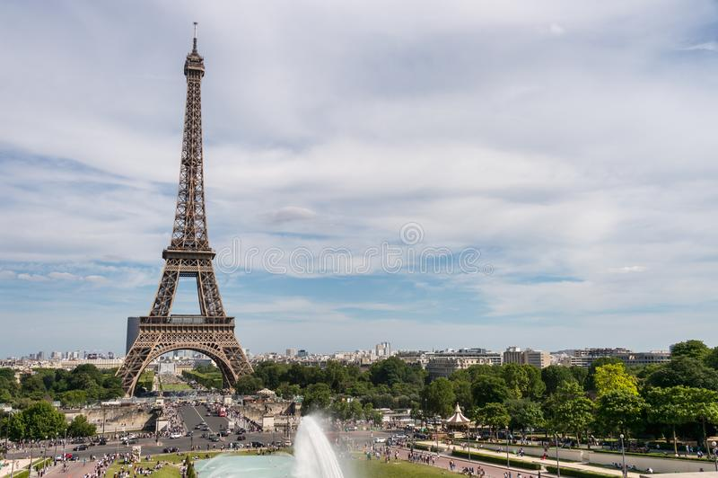 Eiffelturm von Trocadero lizenzfreies stockfoto