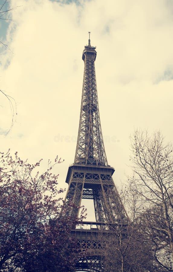 Eiffelturm - Weinlesefoto stockfotografie