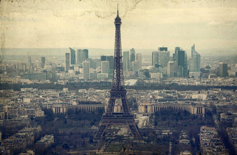 Eiffelturm - Weinlesefoto stockbild