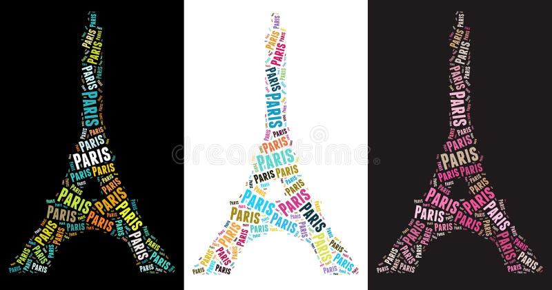 Eiffelturmabbildungen stock abbildung