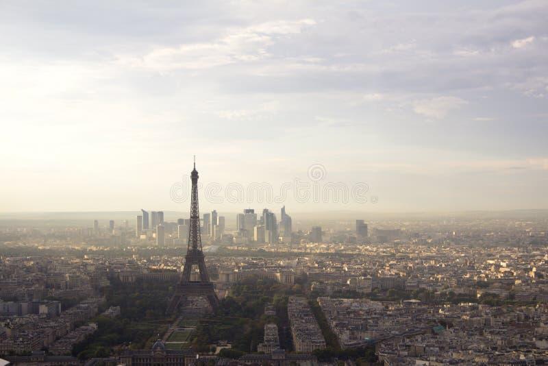 Eiffelturmansicht vom Ausflug Montparnasse lizenzfreies stockbild