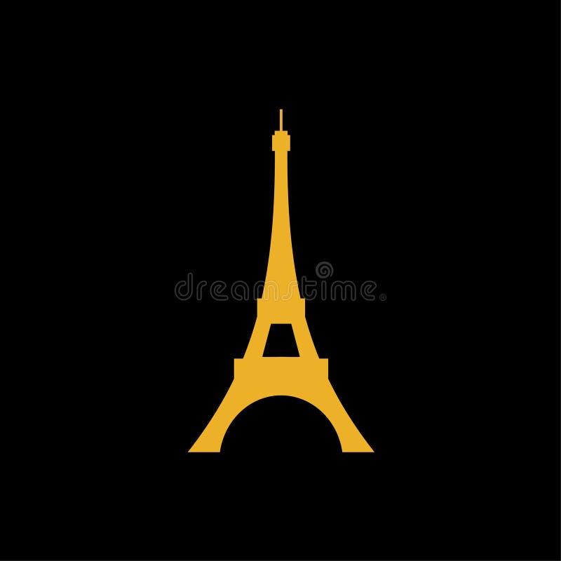 Eiffelturmlogovektor-Illustrationssymbol lizenzfreie abbildung