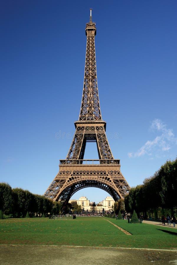 Eiffelturmpostkarte stockbilder