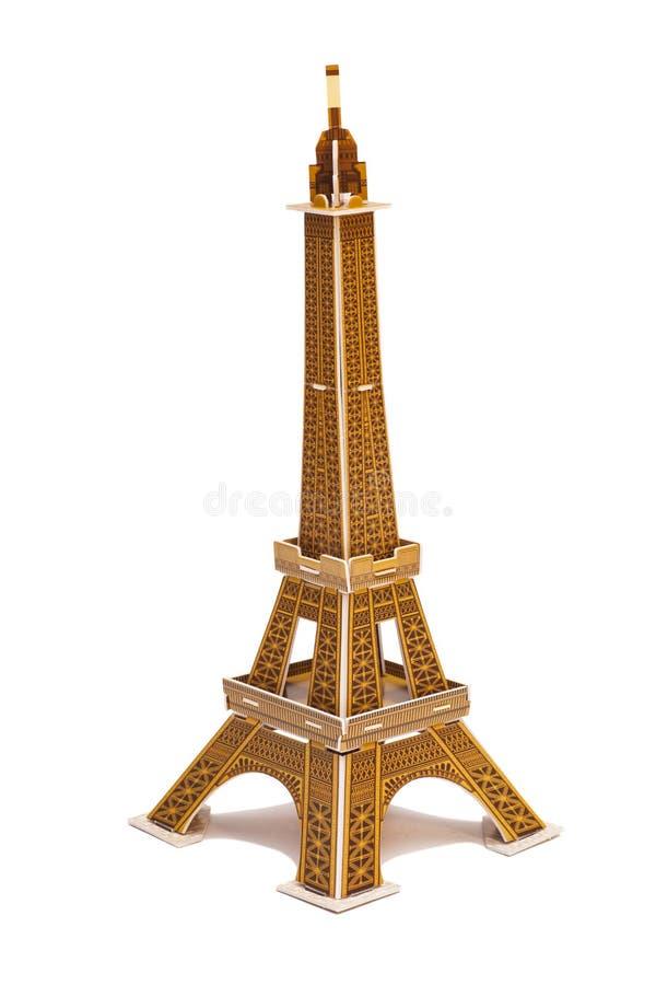 Eiffelturmspielzeug lokalisiert auf Weiß stockbilder