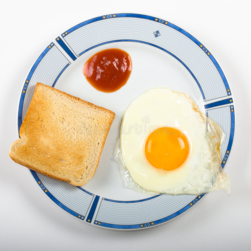 Eifrühstück lizenzfreie stockfotografie