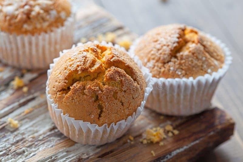 Eigengemaakt Autumn Pumpkin Muffin royalty-vrije stock afbeeldingen