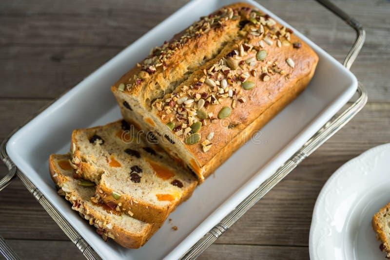 Eigengemaakt banaanbrood royalty-vrije stock foto