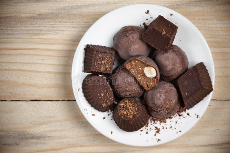 Eigengemaakt chocoladesuikergoed royalty-vrije stock afbeelding