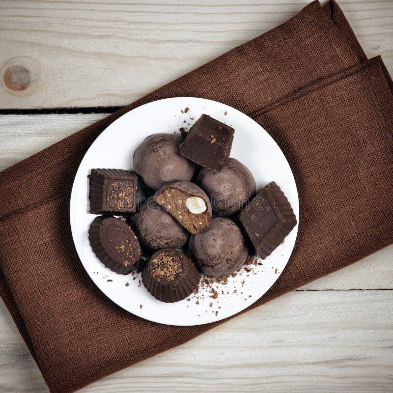 Eigengemaakt chocoladesuikergoed stock afbeelding
