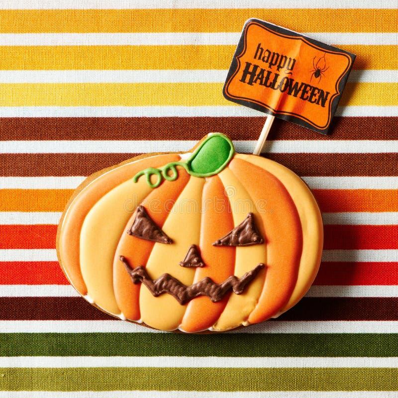 Eigengemaakt de peperkoekkoekje van Halloween stock fotografie