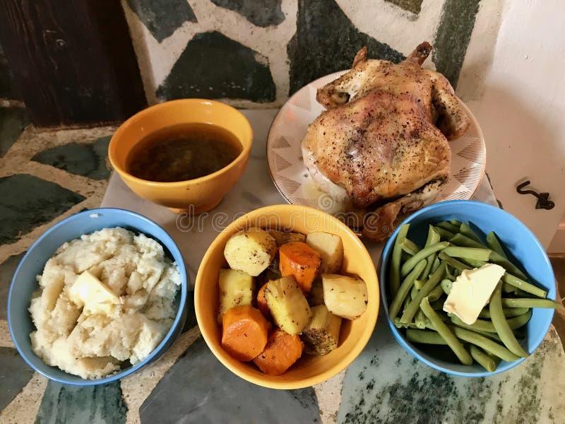 Eigengemaakt Diner in Griekenland stock afbeelding