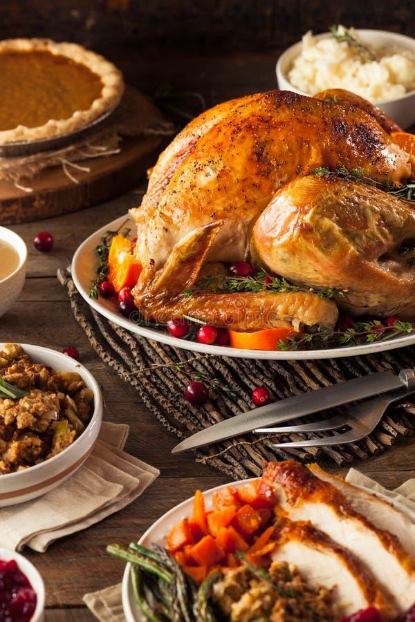 Eigengemaakt Geroosterd Thanksgiving day Turkije stock foto's