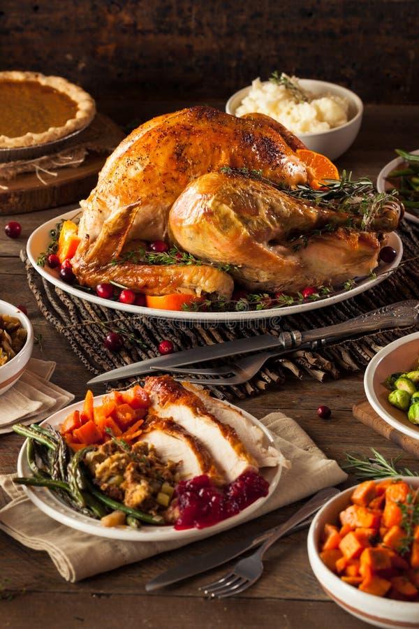 Eigengemaakt Geroosterd Thanksgiving day Turkije stock afbeelding