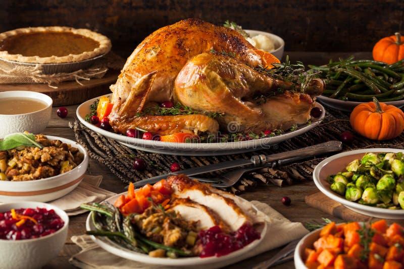 Eigengemaakt Geroosterd Thanksgiving day Turkije royalty-vrije stock fotografie