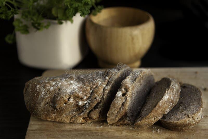 Eigengemaakt gesneden brood royalty-vrije stock fotografie