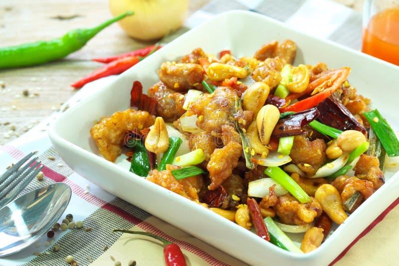 Eigengemaakt Kung Pao Thai-voedsel stock fotografie
